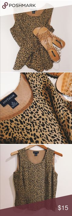 Ann Taylor blouse Animal print blouse. Super chic. Worn once. Wear this with almost anything... Ann Taylor Tops Blouses