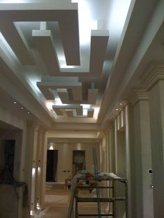 Home Design, Decorating & Remodeling Ideas House Design, Luxury Bedroom Design, Lobby Design, Coffered Ceiling Design, House Ceiling Design, Interior Design And Technology, False Ceiling Design, Hallway Designs, Home Interior Design