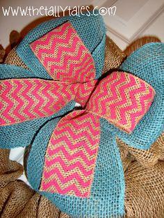 Tally Tales: DIY: 12 Ways to Make a Burlap Bow, Part 12