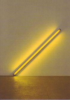 Diagonaal compositie Neon Lighting, Lighting Design, Dan Flavin, Neon Licht, Postcard Art, Neon Colors, Middle Ages, Light Up, Sculpture