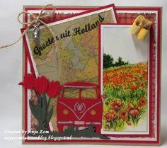 Vw Bus, Vw Camper, Volkswagen, 3d Cards, Marianne Design, Paper Shopping Bag, Holland, Card Making, Scrap