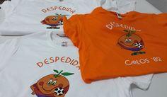 No sólo hacemos camisetas para peñas, también nos suelen pedir para #DespedidasdeSoltero  Aunque el fútbol siempre presente, como ésta #CamisetaRetro