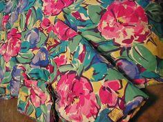 vintage stevens twin sheet set made usa mod floral pattern print 3 pcs percale