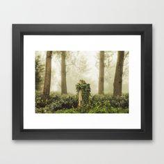 Magic stump Framed Art Print by Tomas Hudolin - $37.00