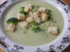 Krémová brokolicová polévka Cheeseburger Chowder, Hummus, Ethnic Recipes, Soups, Soup
