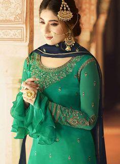 Latest Punjabi Suits Design, Latest Suit Design, Dress Indian Style, Indian Dresses, Indian Outfits, Indian Wear Rajasthani Dress, Rajputi Dress, Jaipur, Color Combinations, Sari, Suits, Model, Dress Ideas, Dresses #suitdesign #colourcombination #punjabisuits #punjabisuit #contrastcolour #colorcombination Colours Combination Ideas Suits Kurti Dress New Colour Combination For Punjabi Suits Fashion Trends contrast colour combination for lehenga,peach colour combination dresses Beautiful Suit, Beautiful Dresses, Nice Dresses, Indian Designer Suits, Sharara Suit, Churidar, Indian Outfits, Indian Dresses, Indian Attire