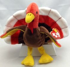 Beanie Baby Vintage Collectible  Gobbles  Includes by Pastfinds