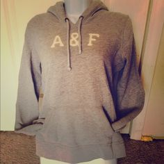 ✨ Item✨Grey Hoodie Worn Handful of Times | Great Condition | Small Stain on Front ; Not Noticeable at First | Long Sleeve | Drawstrings | Enclosed Pocket in Front | Very Warm | Could Fit Anyone from S-L | 60% Cotton | 40% Polyester | Trades | Feel Free to Ask Questions | More  Upon Request | Bundles & Offers are Welcomed ❤️| Abercrombie & Fitch Tops Sweatshirts & Hoodies