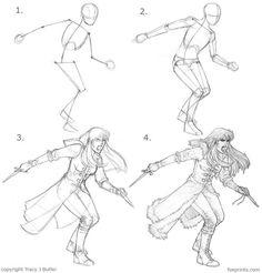 Character Drawing Tutorial repinned by www.BlickeDeeler.de