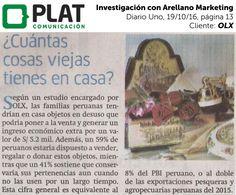 OLX: Investigación con Arellano Marketing en Diario Uno de Perú (19/10/16)