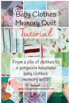 Make Your Own Memory Quilt with Patchwork Castle. Step by step tutorial to help you create your own beautiful keepsake.