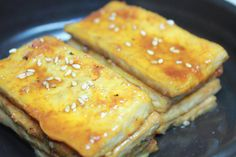 Fried Tofu Side-dish (DoBu JoRim, 두부 조림) - Korean food | All That Korea