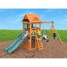 KidKraft Sandy Cove Wooden Playset | swing sets | Wooden ...