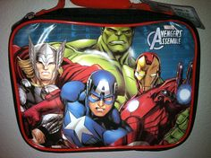 Thermos Marvel Heroes Avengers Assemble Insulated Lunch Box Captain America Thor Iron Man Incredible Hulk