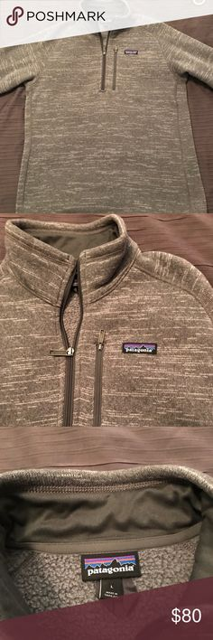 Patagonia 1/4 zip pullover Size large. Never worn out just tried on. Not my size. Perfect shape Patagonia Sweaters Zip Up