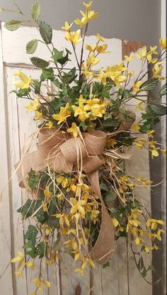 Forsythia swag Wreath Great for All Year by FarmHouseFloraLs