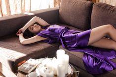 Silk Robe Ultra Violet by Ruby Robe #silk #robe #loungewear #home #inspiration #slowlife