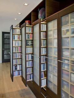 DVD storage can be difficult for small apartments and houses. Check out these 10 clever and easy DVD storage ideas for small spaces for a creativity push. Dvd Storage, Storage Ideas, Media Storage, Storage Closets, Storage Shelves, Storage Solutions, Storage Design, Storage Units, Smart Storage