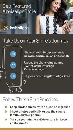 You deserve a pat on the back and a thumbs-up for moving toward your best smile. Follow these tips and tricks for a chance to be the next featured #InvisalignSmile.