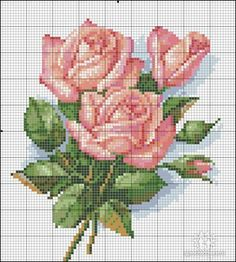 me wp-content uploads 2014 06 rosas-punto-de-cruz-ponto-cruz. Cross Stitch Rose, Cross Stitch Flowers, Cross Stitch Charts, Cross Stitch Designs, Cross Stitch Patterns, Cross Stitching, Cross Stitch Embroidery, Embroidery Patterns, Hand Embroidery