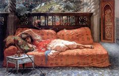 The Siesta by Frederick Arthur Bridgman.