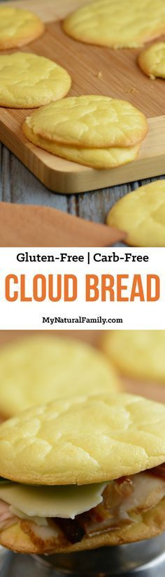 4-Ingredient Cloud Bread Recipe {Gluten-Free, Carb-Free} - This is really simple to make but has tons of uses. I love that I can finally eat bread again on my low carb diet! (Paleo Biscuits Nut Free)