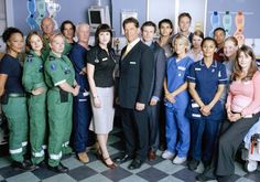 1986 - Casualty - Now the longest-running emergency medical drama in the world. -- I honestly want to go home and watch these from the start. Casualty Characters, Casualty Cast, Holby City, Theme Tunes, Tv Themes, Bbc Drama, Medical Drama, Tv Series Online, Ceremony Programs