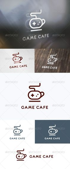 Game Cafe Logo  #GraphicRiver        FEATURES   AI, EPS (CMYK)  PSD (RGB, 100% shapes)  100% customizable  Font: eurofurence  The Line Icons 492      Created: 23September13 GraphicsFilesIncluded: PhotoshopPSD #VectorEPS #AIIllustrator Layered: Yes MinimumAdobeCSVersion: