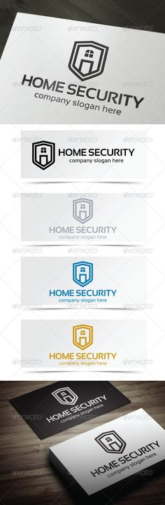 Home Security Logo Design Template Vector #logotype Download it here:  http://graphicriver.net/item/home-security/4874916?s_rank=1315?ref=nexion