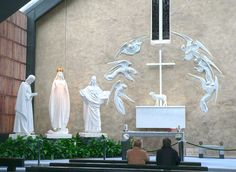 The Knock Shrine - County Mayo - Ireland. Knock is the most traveled to pilgrimage site in all of Ireland. Apparition there in 1879 still draws visitors who want to engage in the mystery.