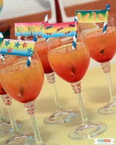 Ombre Drinks for a Summer Party by Pixiebear  #summerparty #beachparty