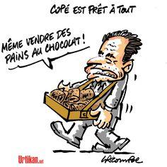Un pain au chocolat blanc pour Jean-François Copé - Dessin du jour - Urtikan.net
