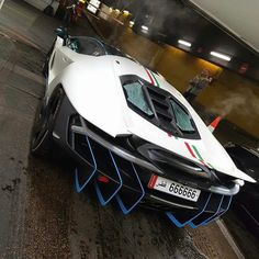 "2,706 Likes, 12 Comments - www.HuracanTalk.com (@huracantalk) on Instagram: ""Special delivery from #Qatar to #Paris ✈️ Bianco #Lamborghini #Centenario with #Tricolore Stripes…"""