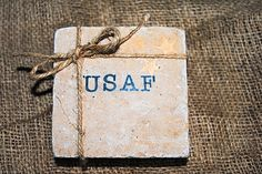 Air Force Home Decor, Air Force Gift, Set of 4 Coasters, Unique Christmas Gift, White Elephant Gift, Military Gift, Military Home Decor by LCProperByZeland on Etsy