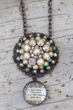Pastel Bling Necklace - $58.00 : Beth Quinn Designs , Romantic Inspirational Jewelry