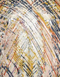 journey, custom made hand knotted rug, rug art