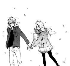 Hibi Chouchou Manga Drawing | ... , cute, drawing, black and white, manga, love, romance, hibi chouchou