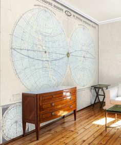 1863 Double Hemisphere Map