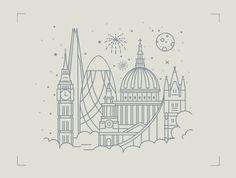 london from above illustration London Tattoo, London Skyline Tattoo, London Illustration, Graphic Illustration, London Drawing, London Sketch, City Drawing, Design Ios, Tattoo Motive