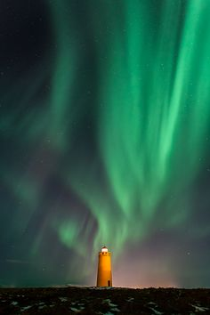 Aurora @ Holmbergs lighthouse. by Gunnar Gestur Geirmundsson, via 500px