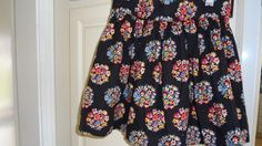 Johnnie B Mini Boden Girls Black Floral Skirt 8 | eBay