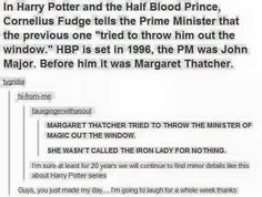 Margaret Thatcher three Fudge out of the window