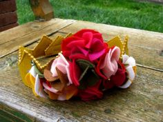 Birthday tiara garden pinks by wendymiracle on Etsy, $22.00 @Maddie
