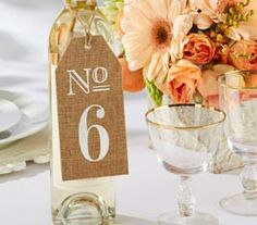 Burlap Table Numbers - set of 6 rustic/vintage theme wedding table decorations Wedding Table Markers, Wedding Table Decorations, Wedding Tables, Wedding Receptions, Rustic Wedding Favors, Wedding Ideas, Wedding Stuff, Dream Wedding, Wedding Burlap