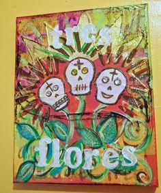 Calaca-themed Art Collage