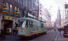 Amsterdam grinding trams H54+H55 in 1995 by Amsterdam RAIL, via Flickr