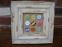 I have tons of vintage buttons...this is a great way I could display them in my home (or sell them at craft shows).