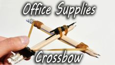 Dave Hax demonstrates how to create a crossbow out of pencils, an ink pen, a binder clip, and rubber bands in his latest instructional video. He then shows off the deadly power of his office crossb…