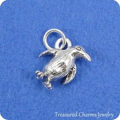 [OSWALD] Penguin Charm Silver Plated Penguin Charm for by treasuredcharms Large Hole Beads, Gotham, Penguins, Silver Plate, Silver Rings, Charmed, Chain, Inspiration, Etsy