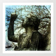 Stone Angel Art Print by Angelandspot - $14.00
